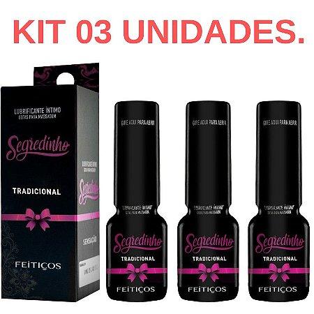Kit 03 Segredinho Gotas Afrodisíacas Feiticos Aromaticos 15ml - Sexshop