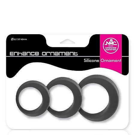 Kit anéis penianos em silicone - ENHANCE ORNAMENT - NANMA - Sexshop