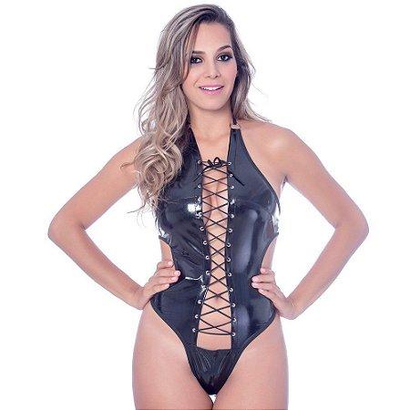 Kit Fantasia Body Vinil Preto Sensual Love - Sexshop