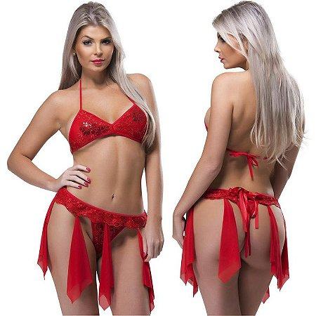 Kit Fantasia Desejos 7 Véus Vermelha Sexy Fantasy - Sex shop