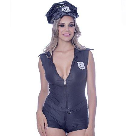 Kit Fantasia Police Macacão Sensual Love - Sexshop