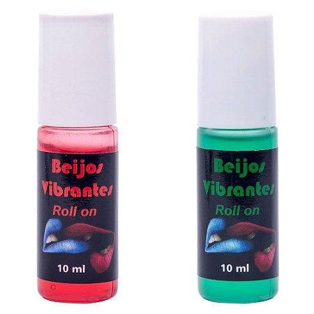 Kit Gel do Beijo Sexo Oral Vibrante em Rollon 10ml - Chillies - Sex shop