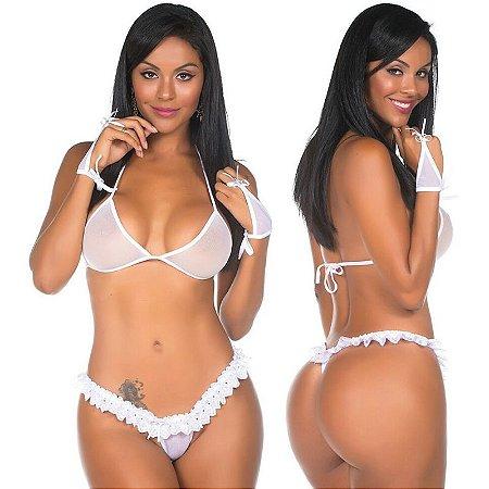 Kit Mini Fantasia Lua De Mel Pimenta Sexy - Sexshop