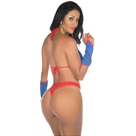 Kit Mini Fantasia Mulher Aranha Pimenta Sexy - Sex shop