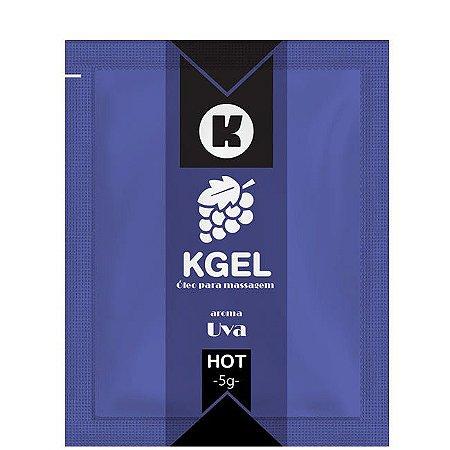 Lubrificante quente para Sexo Oral sabor Uva 5ml - Sex shop