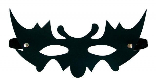 Mascara Preta em Couro - Sexshop