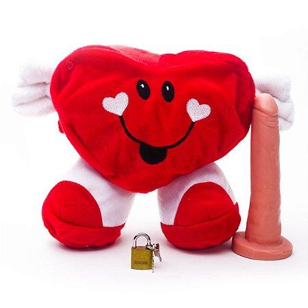Mascote da Sedução Coração Com Pênis - Sexshop