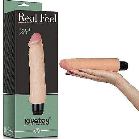 Pênis com Vibro Real Feel - CyberSkin 20 x 3,8 cm - Sexshop