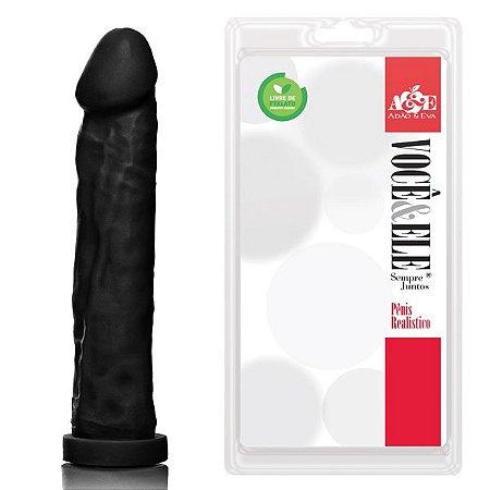 Pênis Realístico Gigante Preto - Sexshop