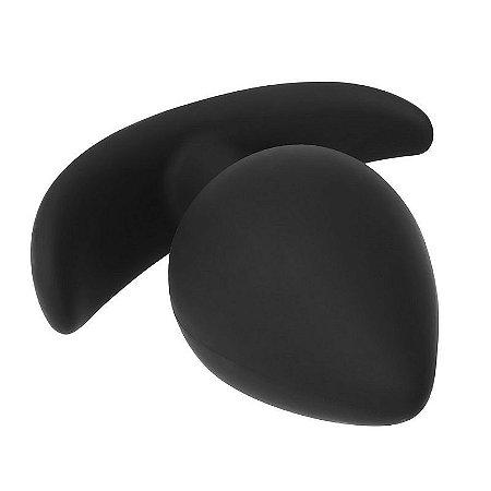 Plug Anal Preto Alça de segurança - 7cm - Sexshop