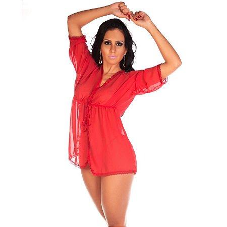 Robe Sensual Felina Pimenta Sexy Vermelho - Sexshop