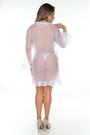 Robe Sensual Tentação Pimenta Sexy Branca - Sexshop