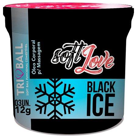 SoftBall Bolinha Black Ice 03 unidades SoftLove - Sexshop
