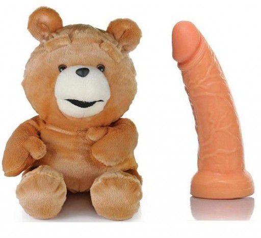 Urso Ted - com compartimento secreto - Sexshop