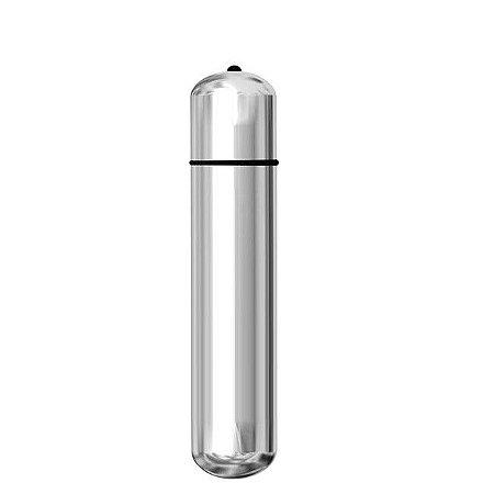 Vibrador Cápsula Prata 9,6X1,8cm - Sex shop