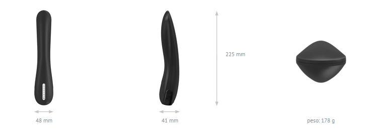 Vibrador F6 - Black - OVO Lifestyle - Sex shop