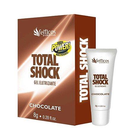 Vibrador Liquido Total Shock Beijável Chocolate 8gr - Sexshop