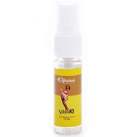 Vibraki Excitante Vibrador Liquido Spray 15ml 40Graus - Sexshop
