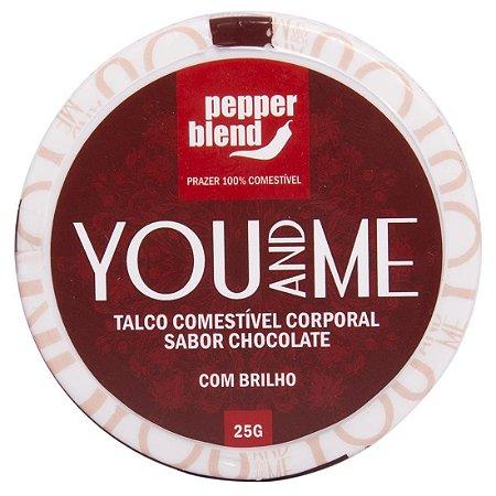 You and Me talco comestível aromático 25g Pepper Blend Chocolate - Sex shop
