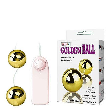 Bolas de Pompoar com Vibração Multivelocidade - GOLDEN BALL Baile - Sexshop