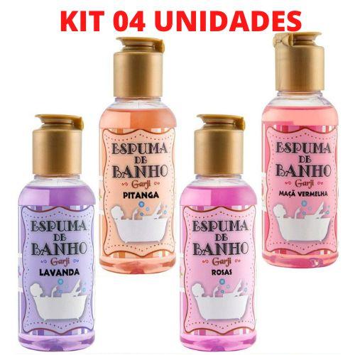 KIT 04 Espumas de Banho Aromática 120 ML - 04 aromas - GARJI
