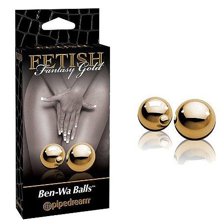 Bolinhas Para Pompoar - Ben-wa Gold Balls - Pipedream