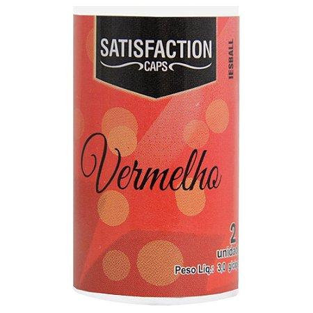 Bolinha Vaginal Excitante Satisfaction Vermelho 2 Capsulas Perfumadas