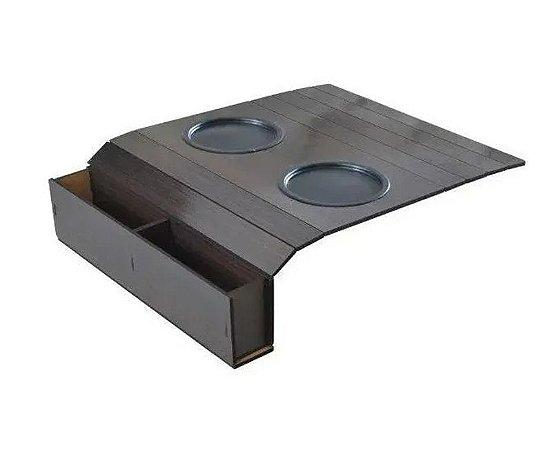 Esteira Porta Copos Para Braço de Sofá com Porta Controle