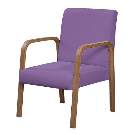Poltrona Bella Tecido Liso - Violeta