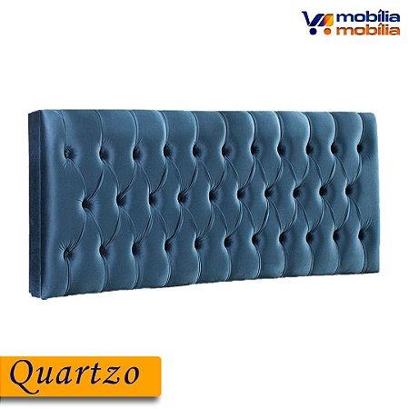 Cabeceira Quartzo 1,93MT Tecido Joly - Azul