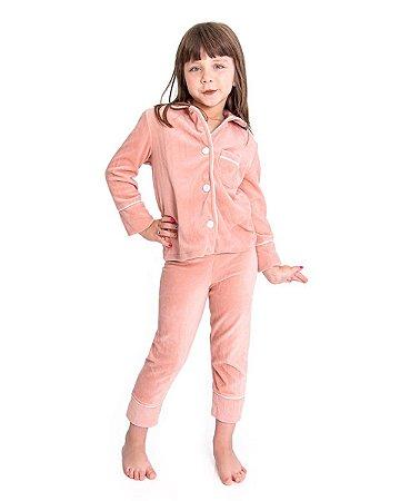Pijama Infantil Longo Camisaria - Plush Cassis