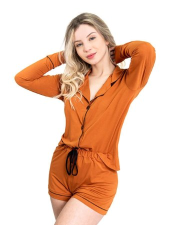 Pijama Camisaria Triplo in Toffe