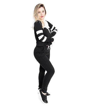 Conjunto Fitty Stripes Black in White