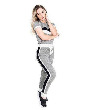 Conjunto Fitty Stripes Grey