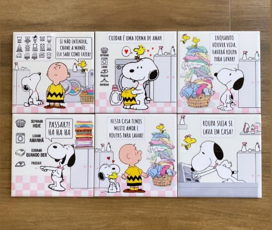 Conjunto Snoopy Lavanderia