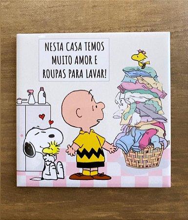 Snoopy para lavanderia - Nesta Casa Temos