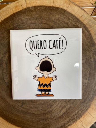 Azulejo ¨Quero Café¨ Charlie Brown