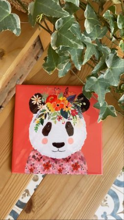 Azulejo ¨Mag a Panda¨floral