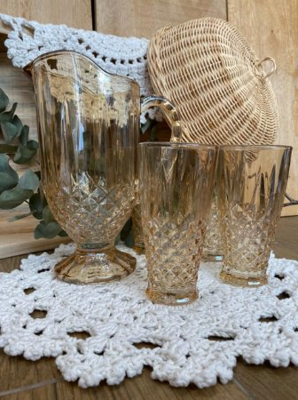 Kit Jarra Vidro + 4 copos