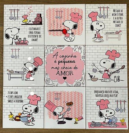 Coleção Snoopy Cozinha c/ 9 azulejos