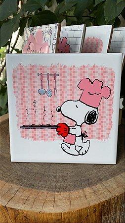 Azulejo Snoopy ¨Tá pronto¨15X15