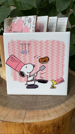 Azulejo Snoopy Panqueca - 15X15