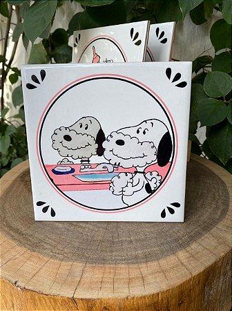 Azulejo Snoopy Barbeando - 15X15