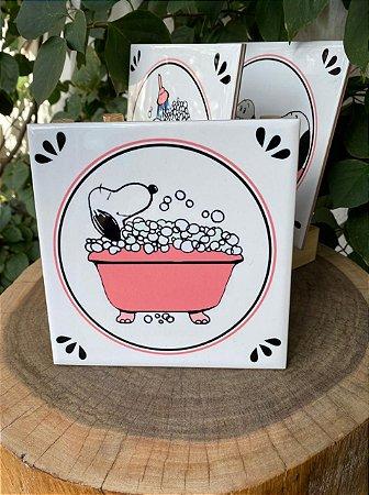 Azulejo Snoopy na banheira - 15X15
