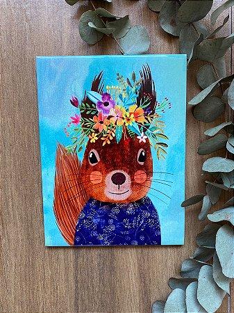 Azulejo Esquilo Floral 15X20