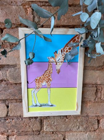 Azulejo Girafa Mãe e Filha 20X30