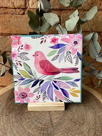 Azulejo Pássaro Cores 15X15