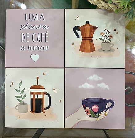 Kit Porta-Copos Café e Amor