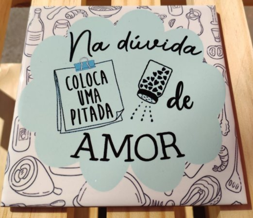 """Azulejo 15 x 15 - """"Na dúvida"""""""