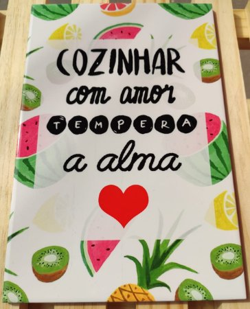 """Azulejo """"Cozinhar com amor"""" 20 x 30"""